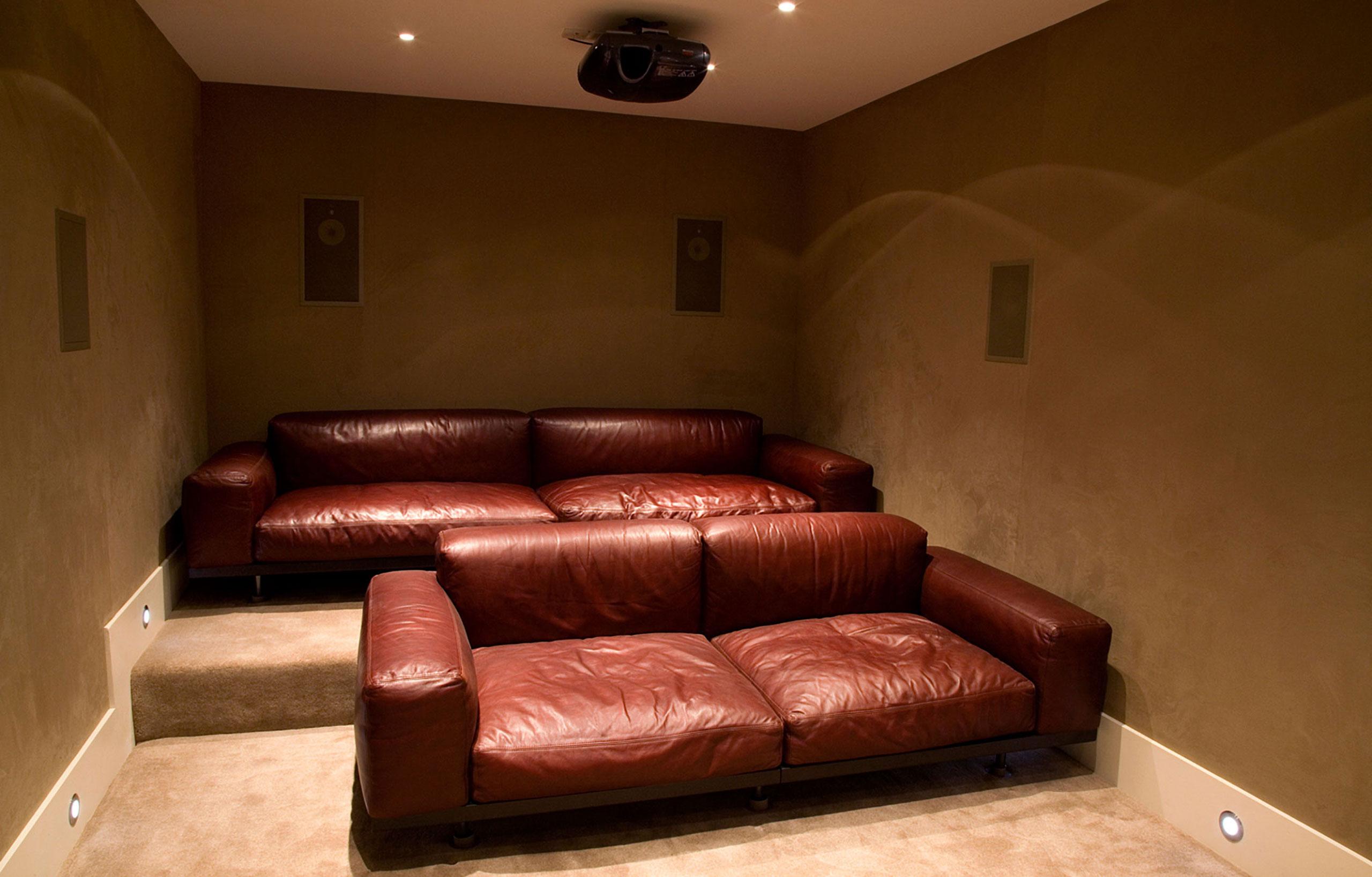 Fabric Walling Cinema Room Back