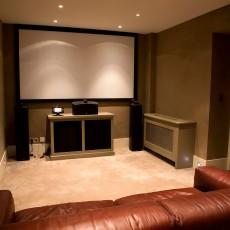 Fabric Walling in Cinema Room