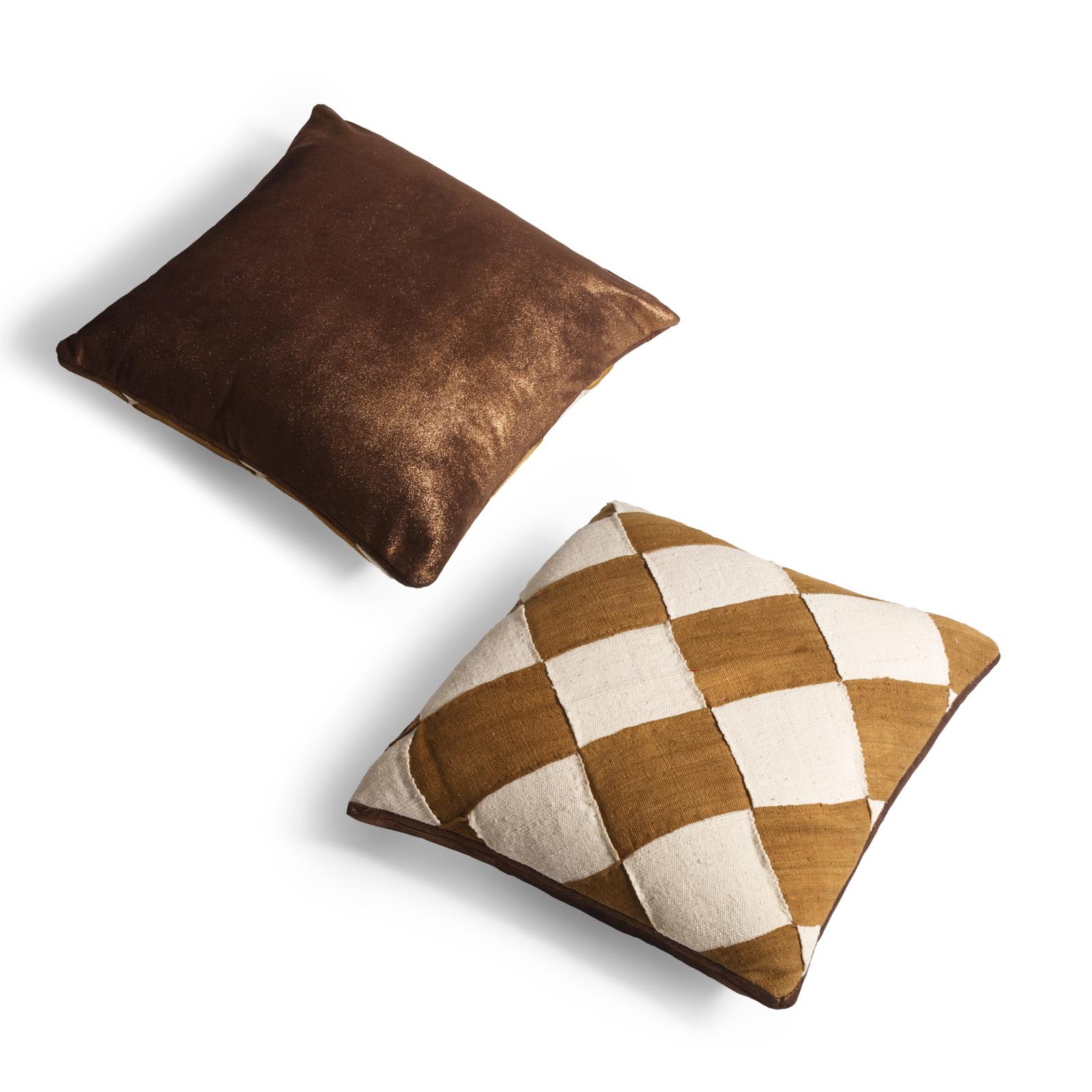 Mudcloth Cushion Poussiere d'Or