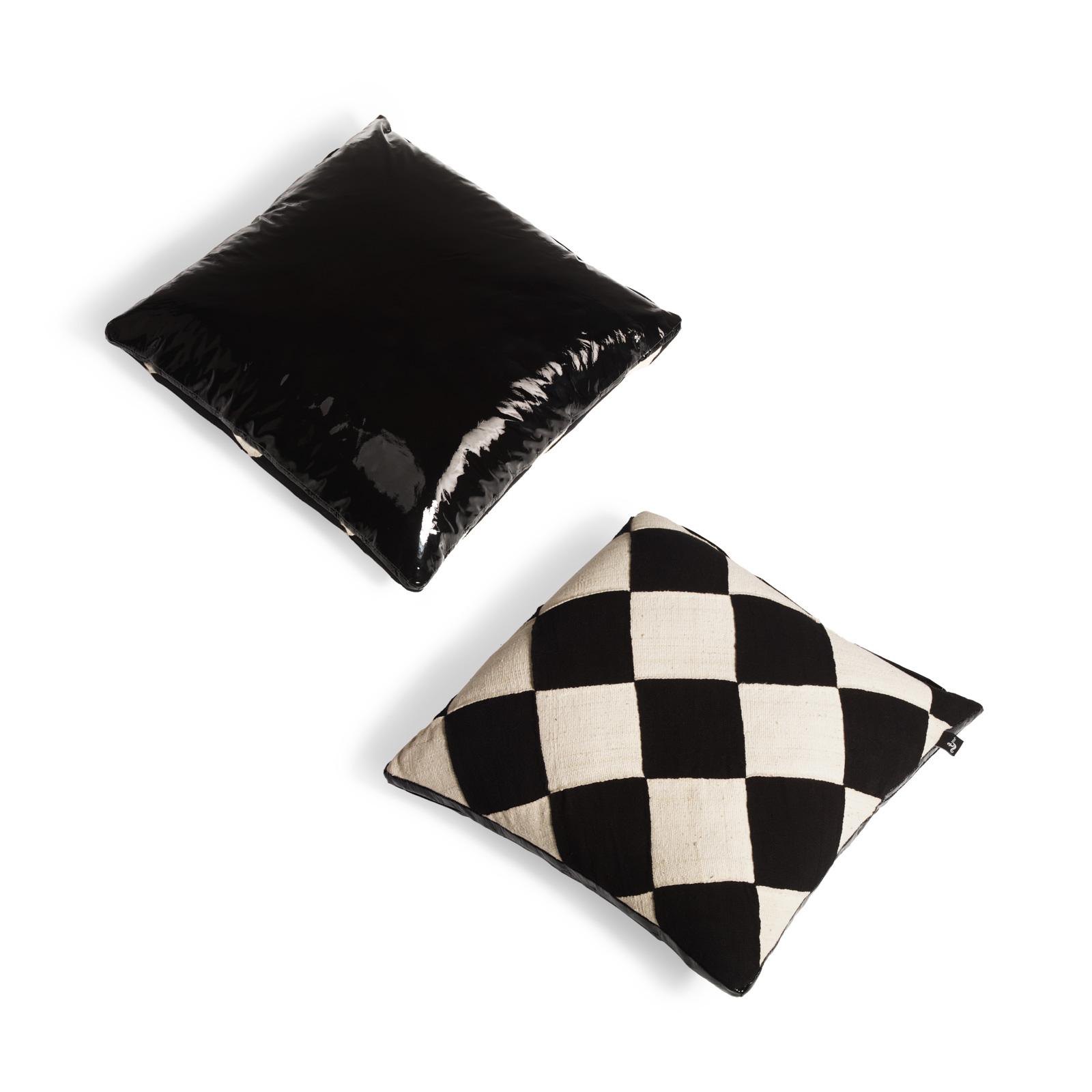 Mudcloth Cushion Noir Ciré