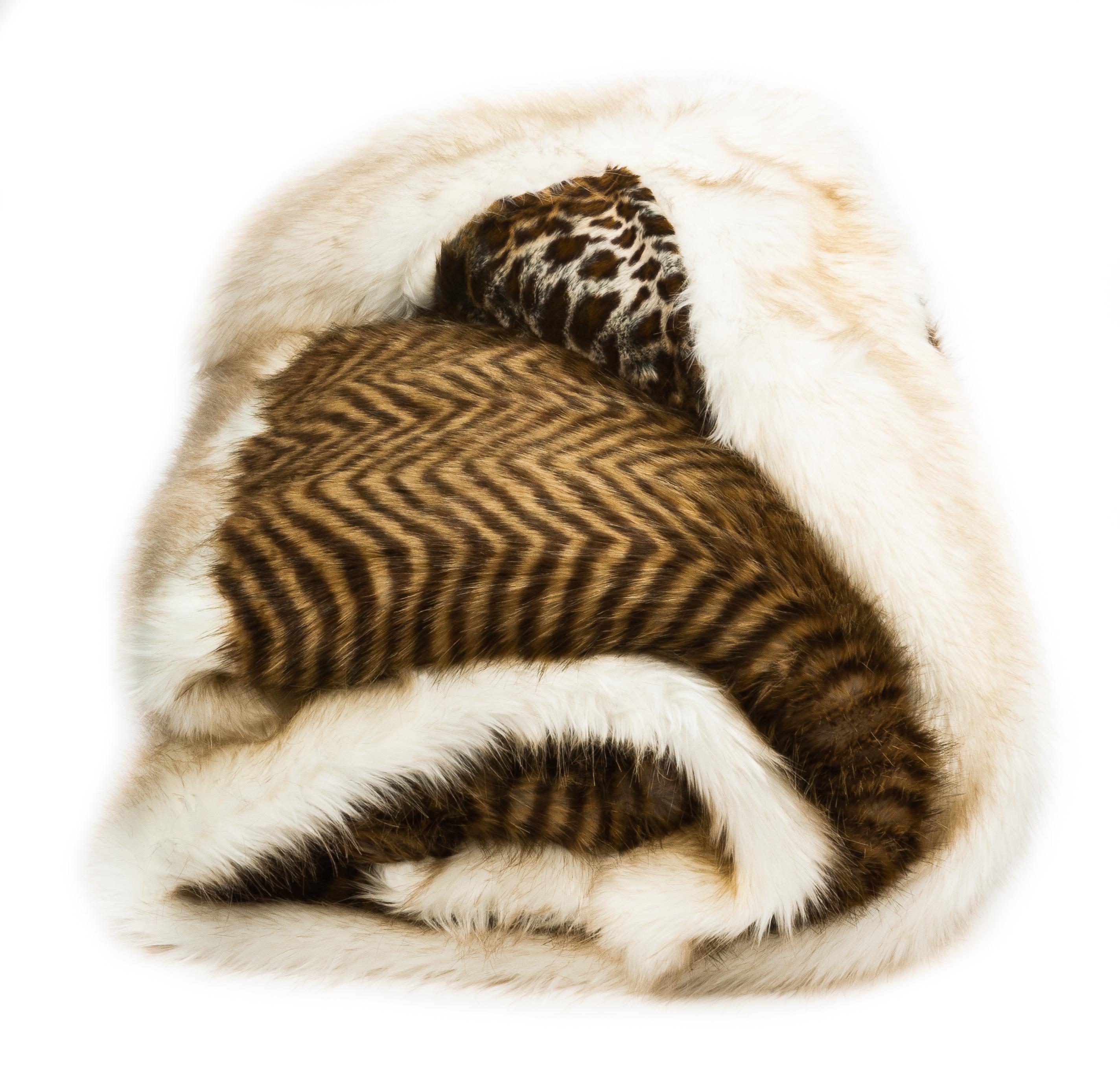 Faux Fur Throw  Leopard