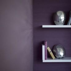 Fabric walling with Purple Silk