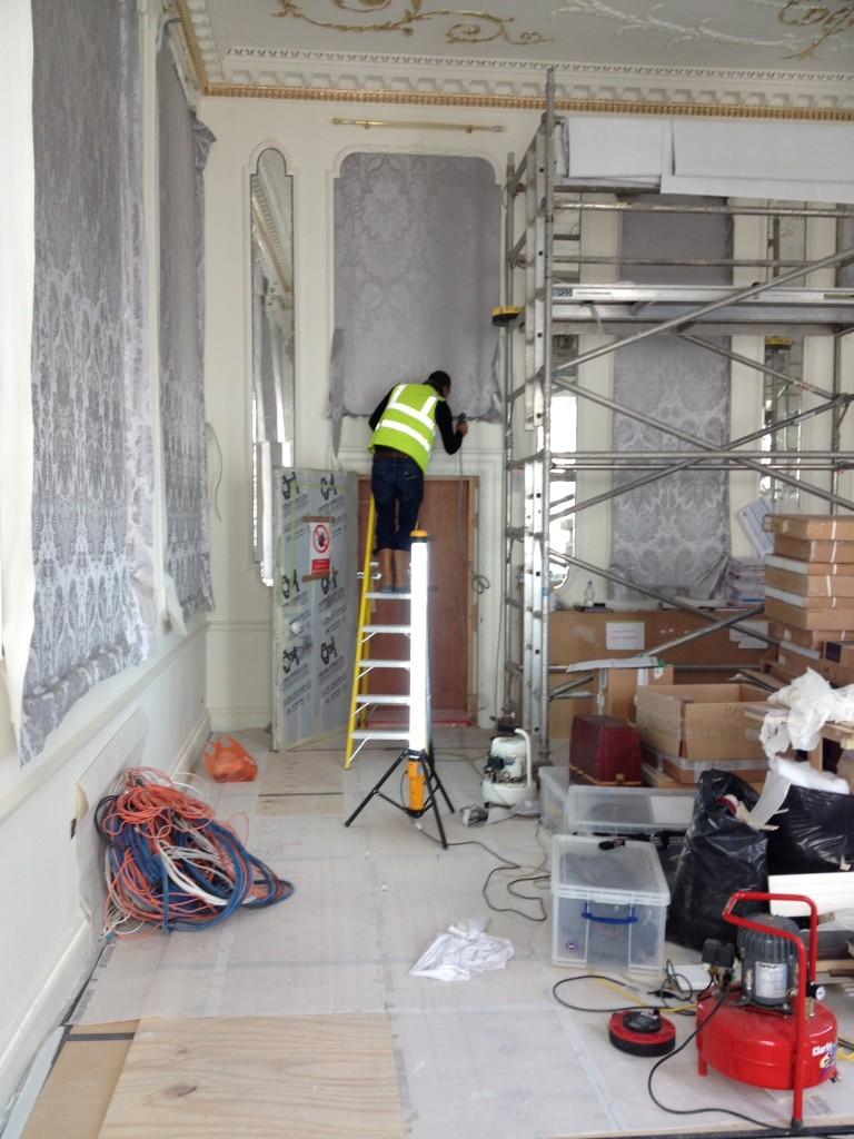 Craftsman on Fabric Walling